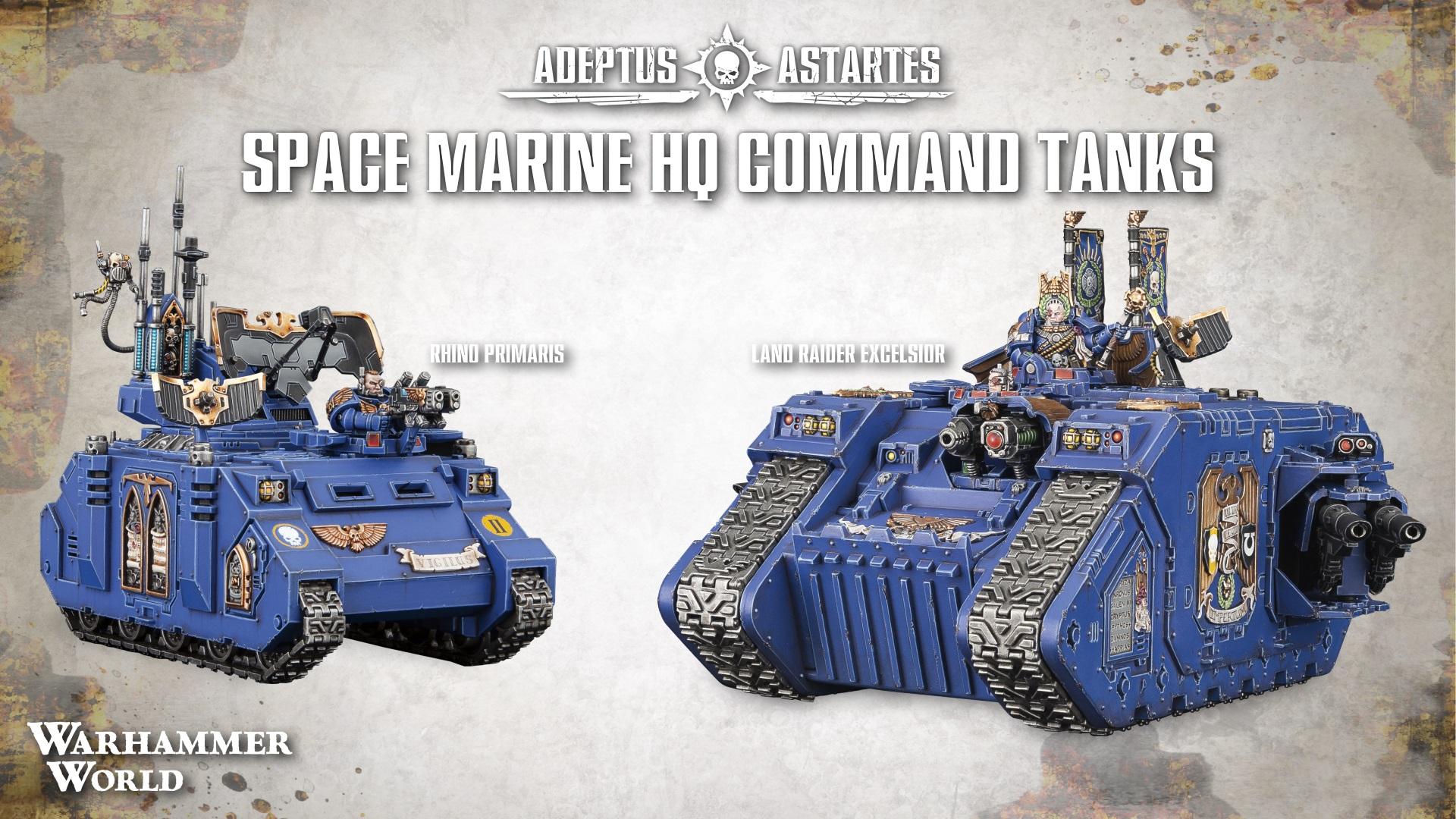 Space Marine HQ Command Tanks