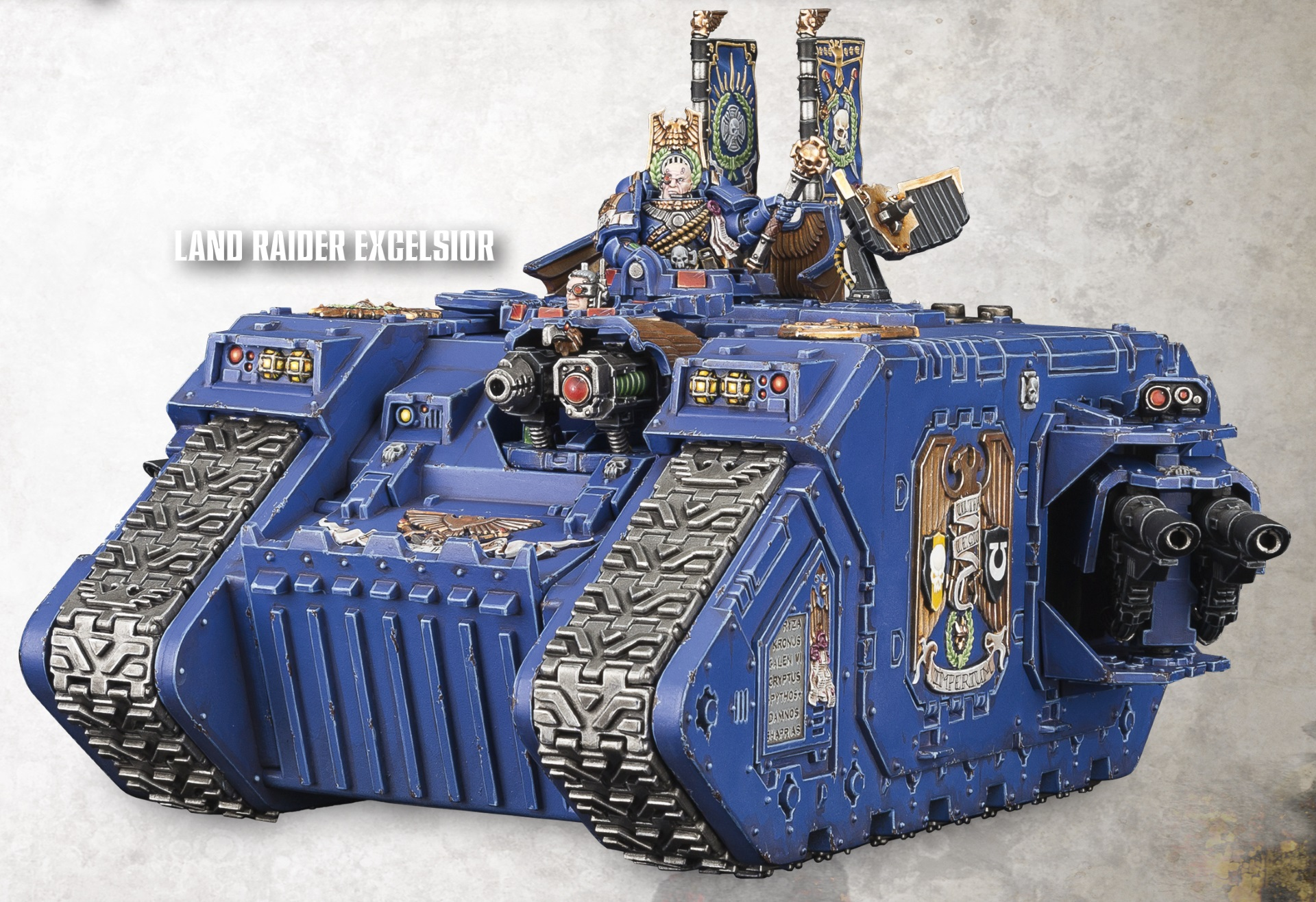 Space Marine Land Raider Excelsior Command Tank