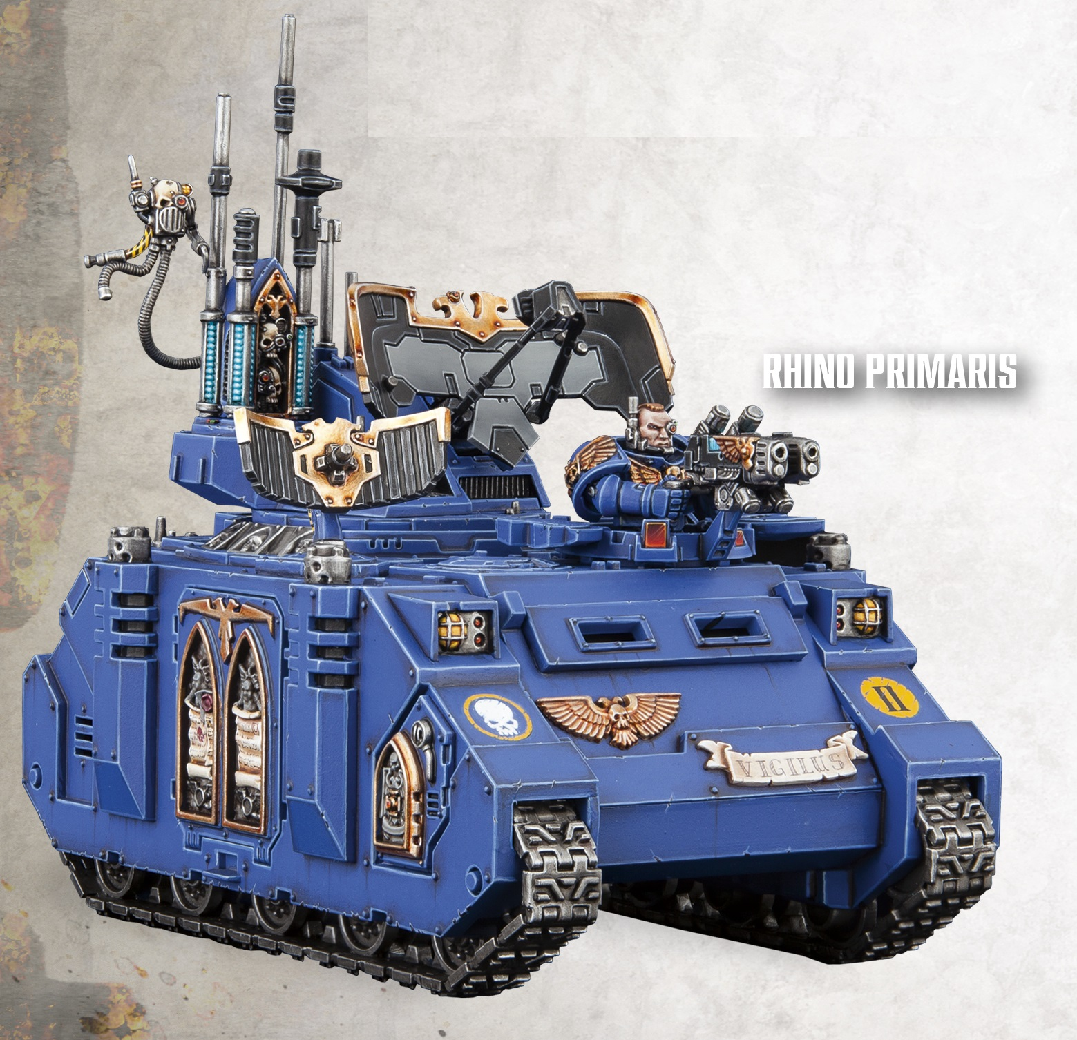 Space Marine Rhino Primaris Command Tank