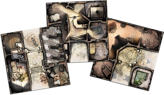 Zombicide Black Plague Game Tiles