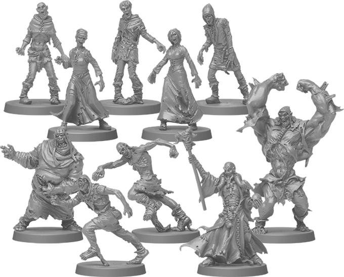 Zombicide Black Plague Zombies