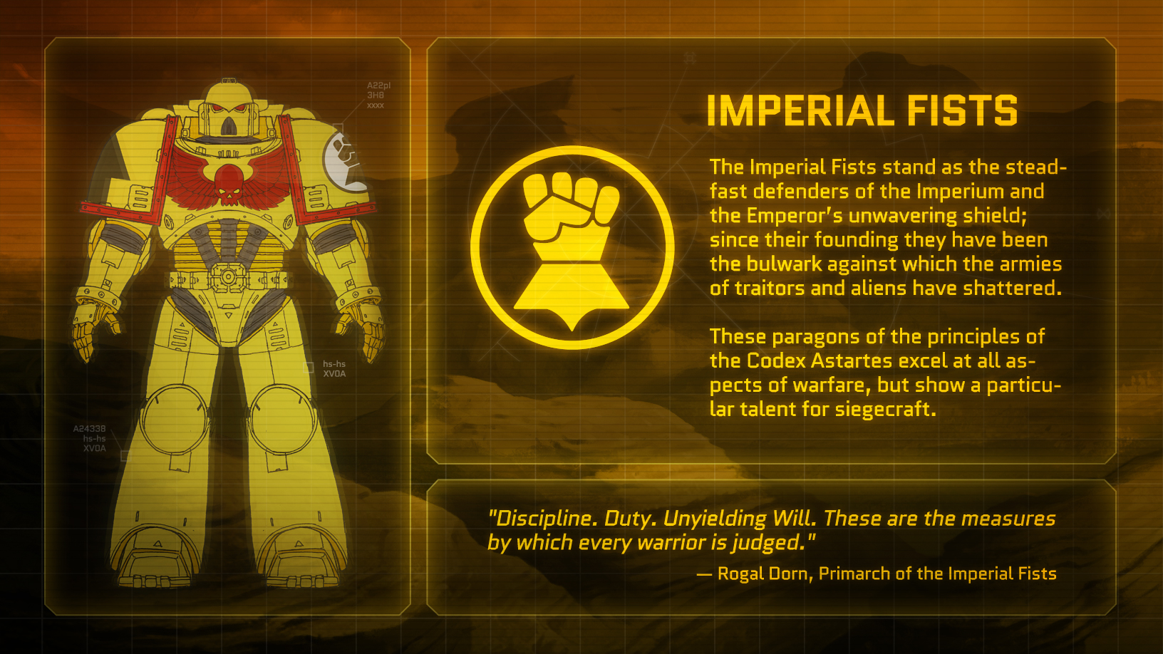 Vote for the new space marine chapter in eternal crusade tabletop encounters - Imperial fists 40k ...