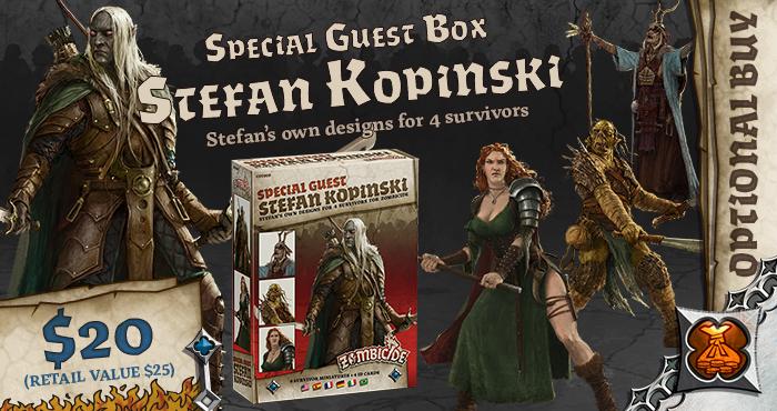 Stefan Kopinski Special Guest Box - Zombicide Black Plague