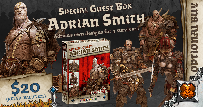 Adrian Smith Special Guest Box - Zombicide Black Plague