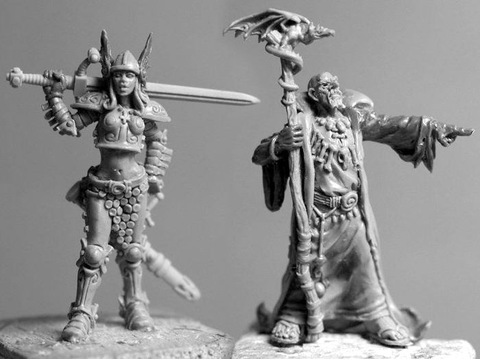 Persephone Pursuivant and To-Me Ku-Pa - Zombicide Black Plague