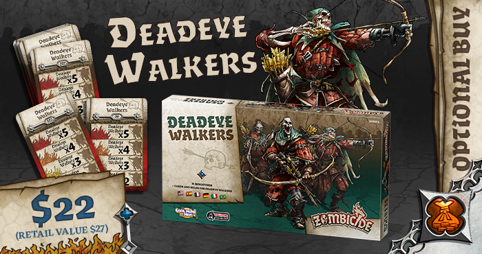 Deadeye Walkers Optional Buy - Zombicide Black Plague