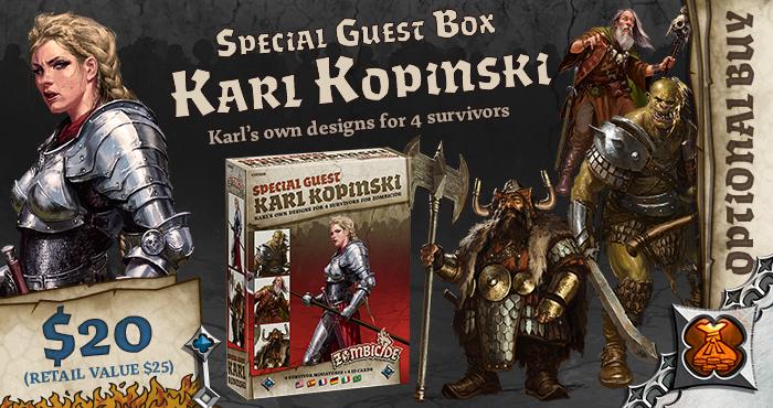 Karl Kopinski Special Guest Box - Zombicide Black Plague