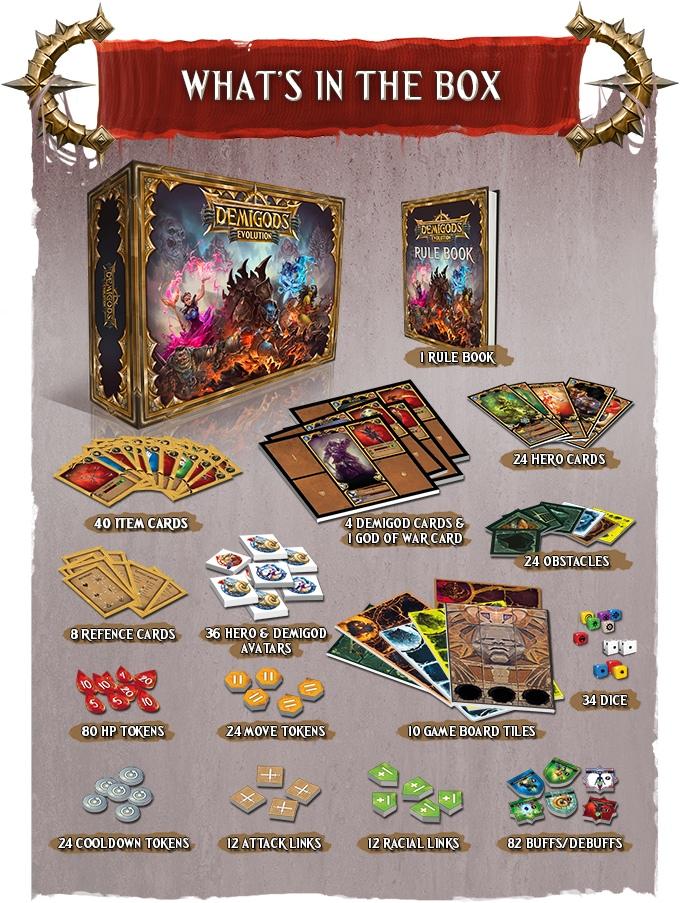 Demigods Evolution Resin Miniatures Game Contents