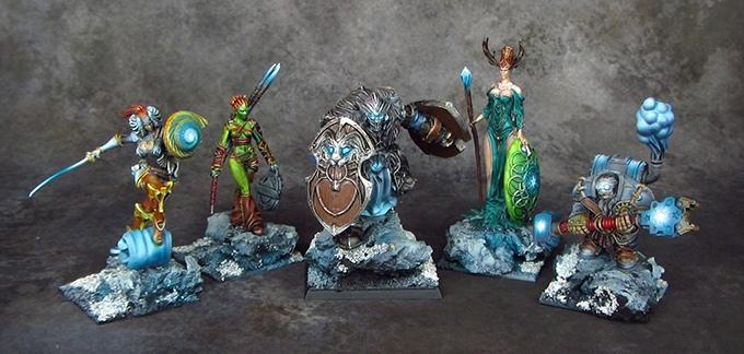 Demigods Evolution Painted Miniatures Group 2