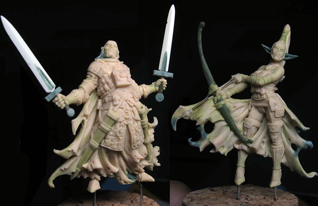 Lord Hewelin & Shalheira - Zombicide Black Plague