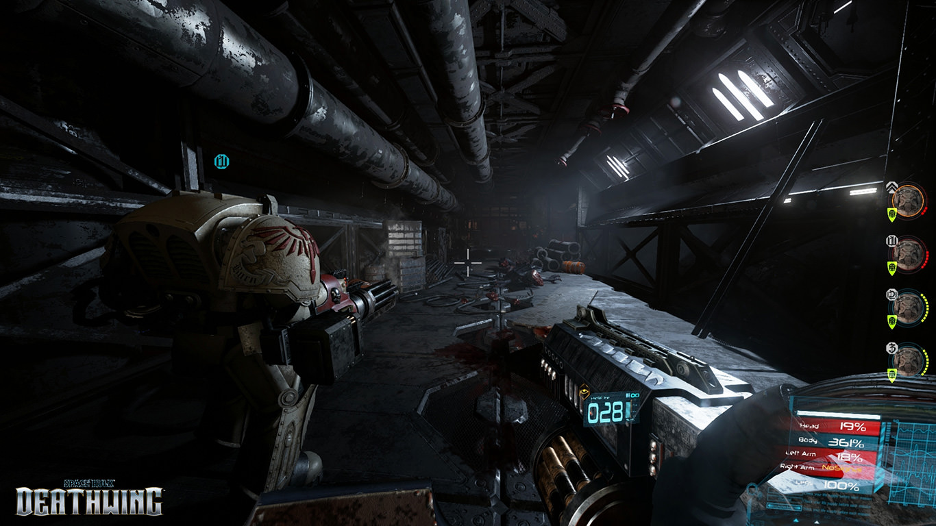 Space Hulk Deathwing - In-game Corridor Screenshot