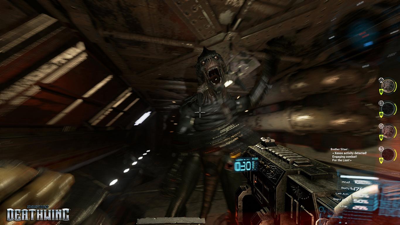 Space Hulk Deathwing - In-game Genestealer Attack Screenshot