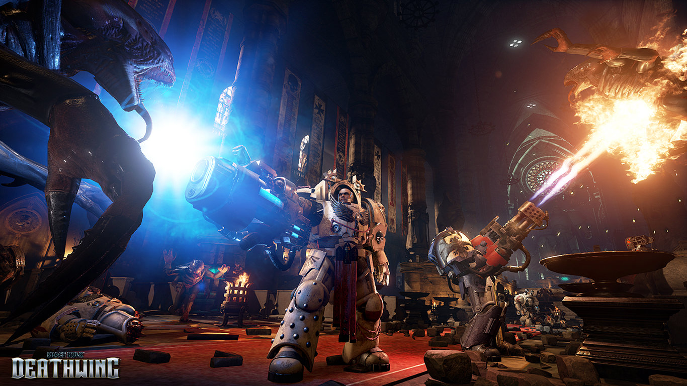 Space Hulk Deathwing - In-game Terminators With Plasma Cannon and Heavy Flamer Screenshot