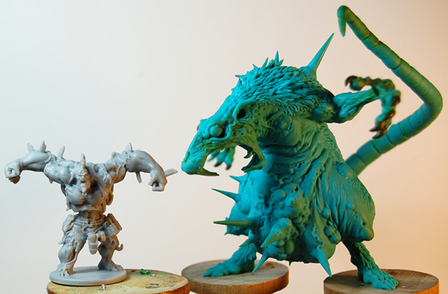 Abominarat Size Comparison - Zombicide Black Plague