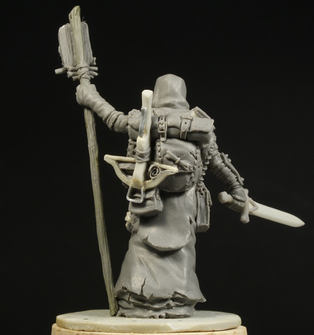 Doctor Stormcrow Rear View - Zombicide Black Plague