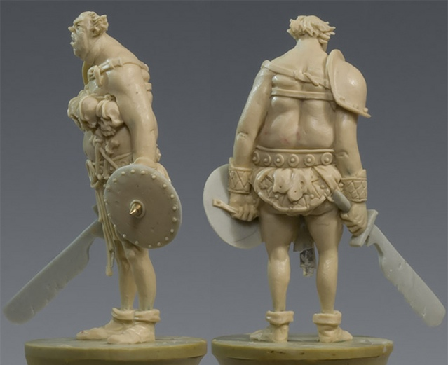 Pipino, the Humongous Rear & Side View - Zombicide Black Plague