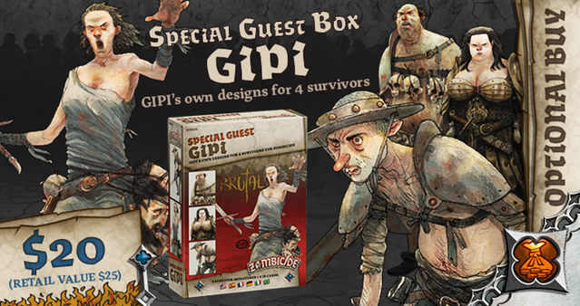 Gipi Special Guest Box - Zombicide Black Plague