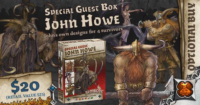 John Howe Special Guest Box - Zombicide Black Plague