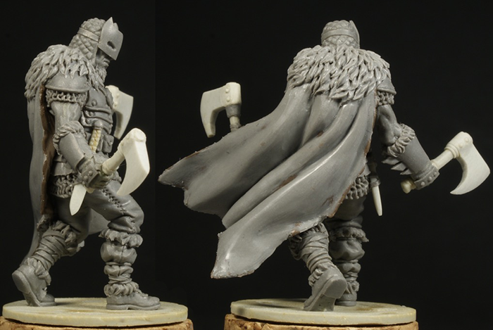 Scowl Rear and Side View - Zombicide Black Plague