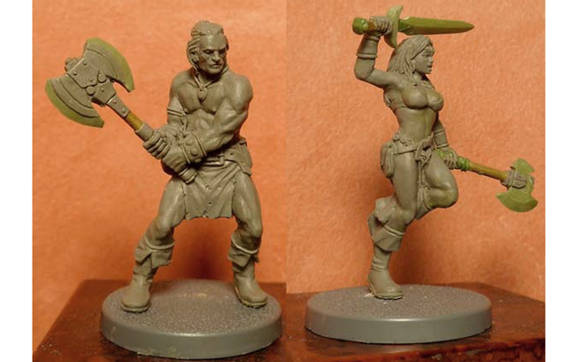 Gronstag and Yrina - Zombicide Black Plague