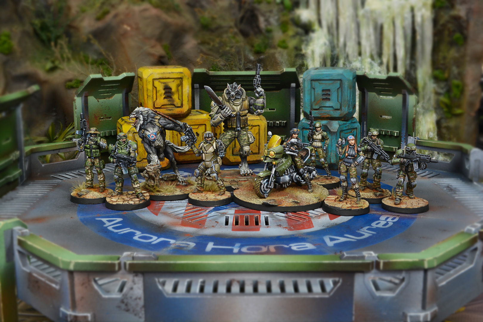 USAriadna Army Pack Miniatures with Scenery