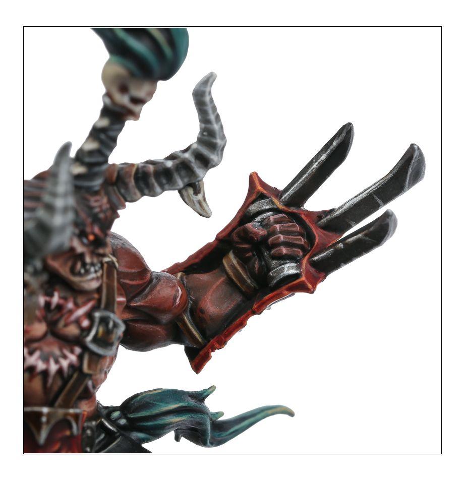 Khorne Exalted Deathbringer - Skullgouger Close-up