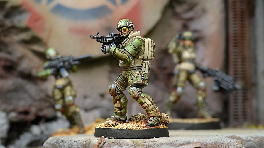 USAriadna Grunts, Line Rangers Regiments with HMG - Infinity