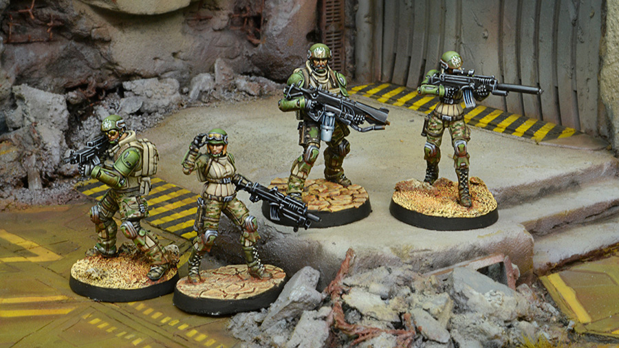 USAriadna Grunts, Line Rangers Regiments With Scenery - Infinity