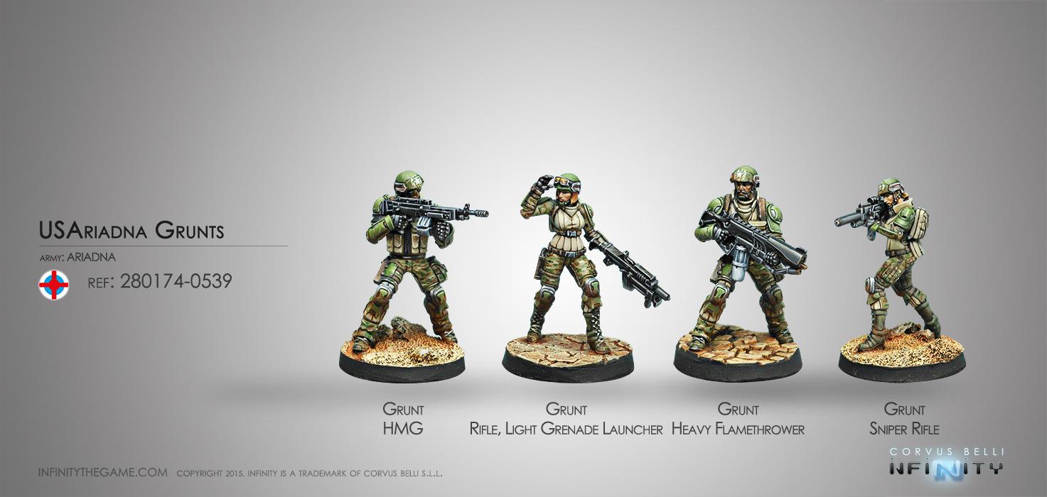 USAriadna Grunts, Line Rangers Regiments - Infinity