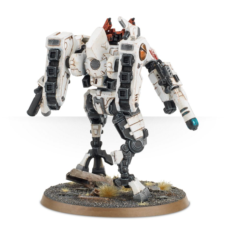 Tau Commander XV85 Enforcer Armour Crisis Battlesuit - Rear View