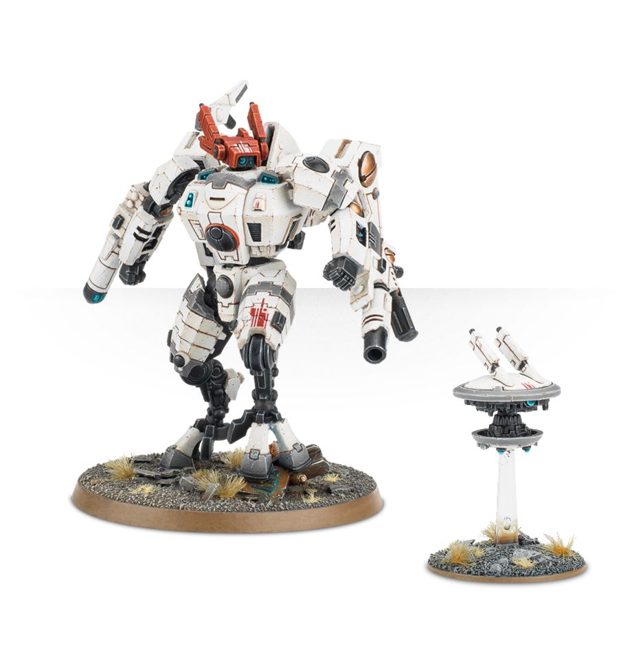 Tau Commander XV85 Enforcer Armour Crisis Battlesuit with Drone