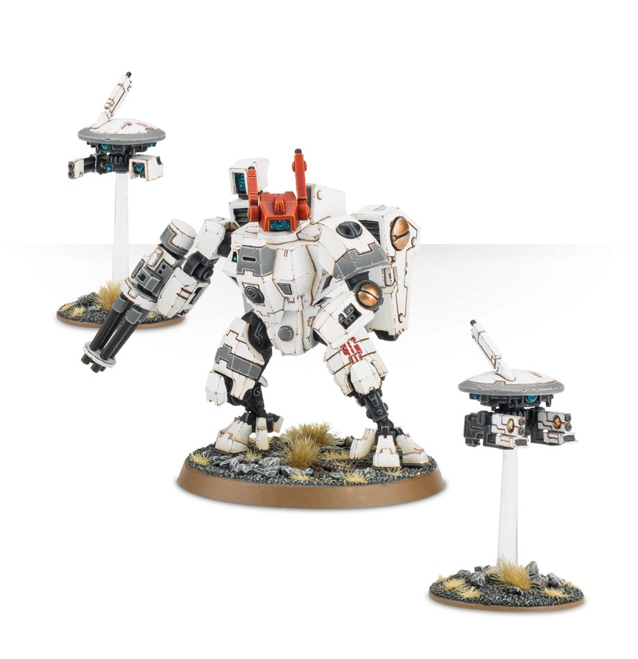 Tau XV8 Crisis Battlesuit with Burst Cannon