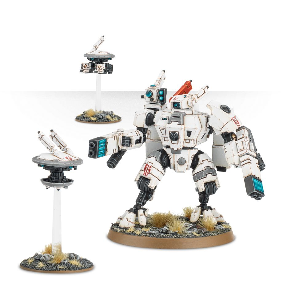 Tau XV8 Crisis Battlesuit with Fusion Blasters