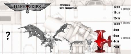 Creatures Size Comparison - Dark Skies 1942