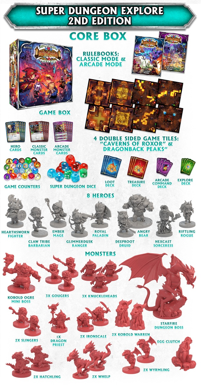 Super Dungeon Explore 2nd Edition Game Contents