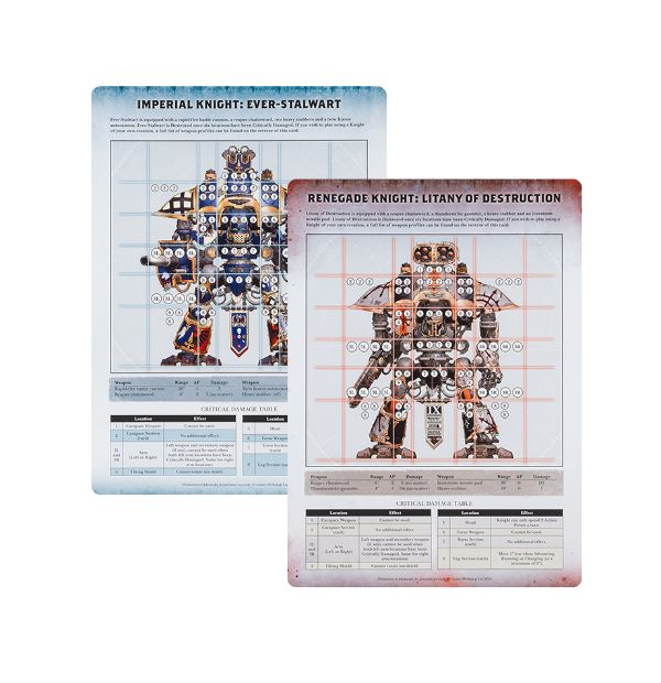 Imperial Knights: Renegade - Stat Cards