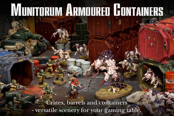 Munitorum Armoured Crates Scenery