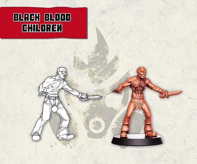 Black Blood Children - Gang member with Knife Render