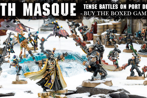 Death Masque Boxed Game Banner