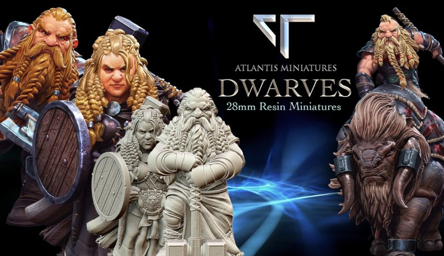 Atlantis Miniatures 28mm Dwarf Miniatures