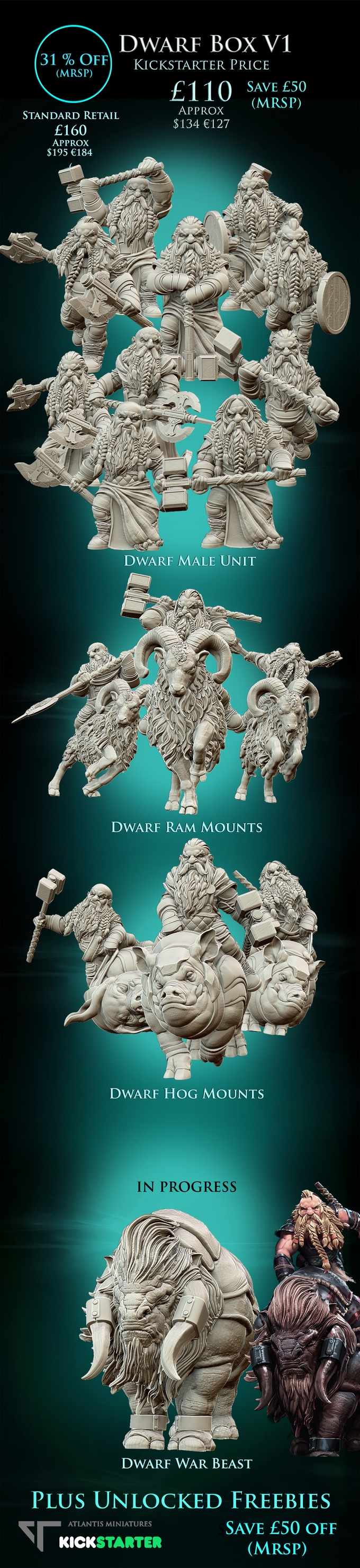 Dwarf Box 1 - Atlantis Miniatures