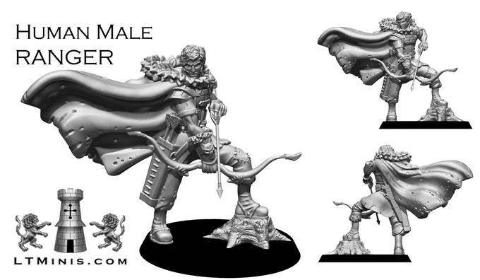 Human Male Ranger - Lion Tower Miniatures