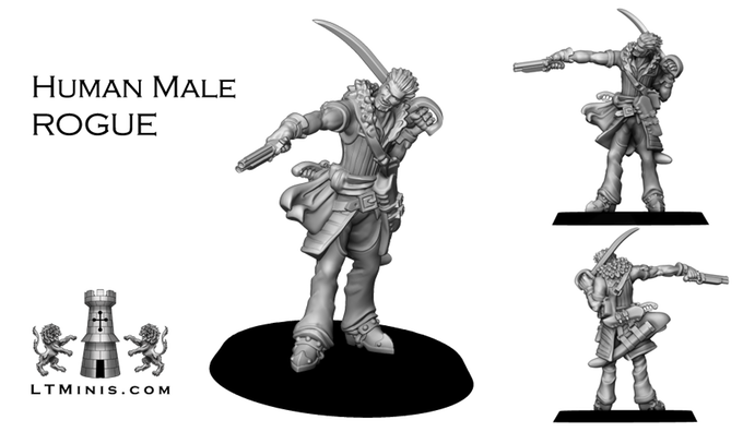 Human Male Rogue - Lion Tower Miniatures