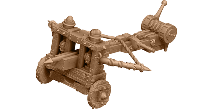 3D render of the Ballista - Zombicide Green Horde