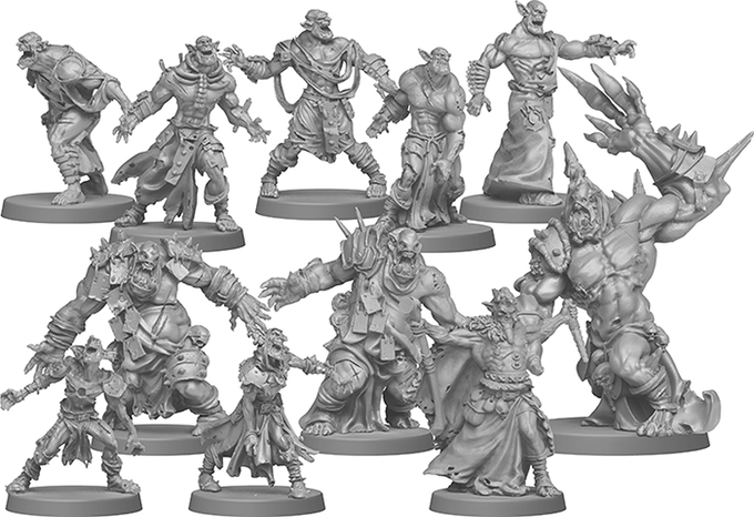 Orc Zombie miniatures - Zombicide Green Horde