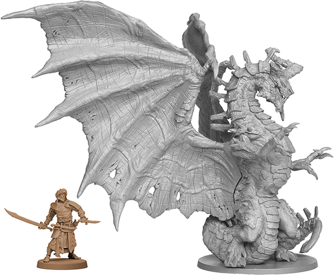 Feral Dragon and Asim, the Survivor - Zombicide Green Horde