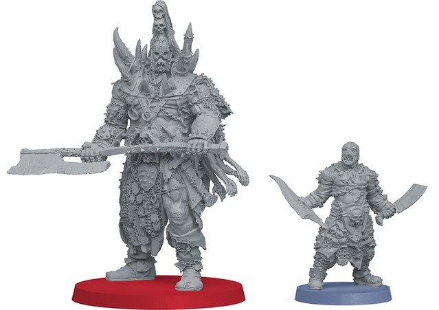 The Um'Gra Prince next to an Um'Rak Warrior, for scale.