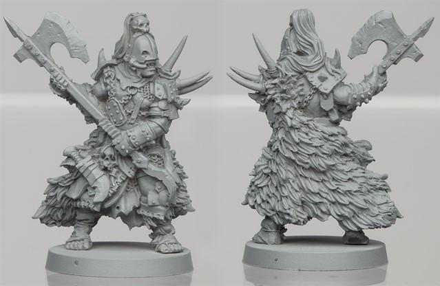 Um'Gra Warrior resin figure 3