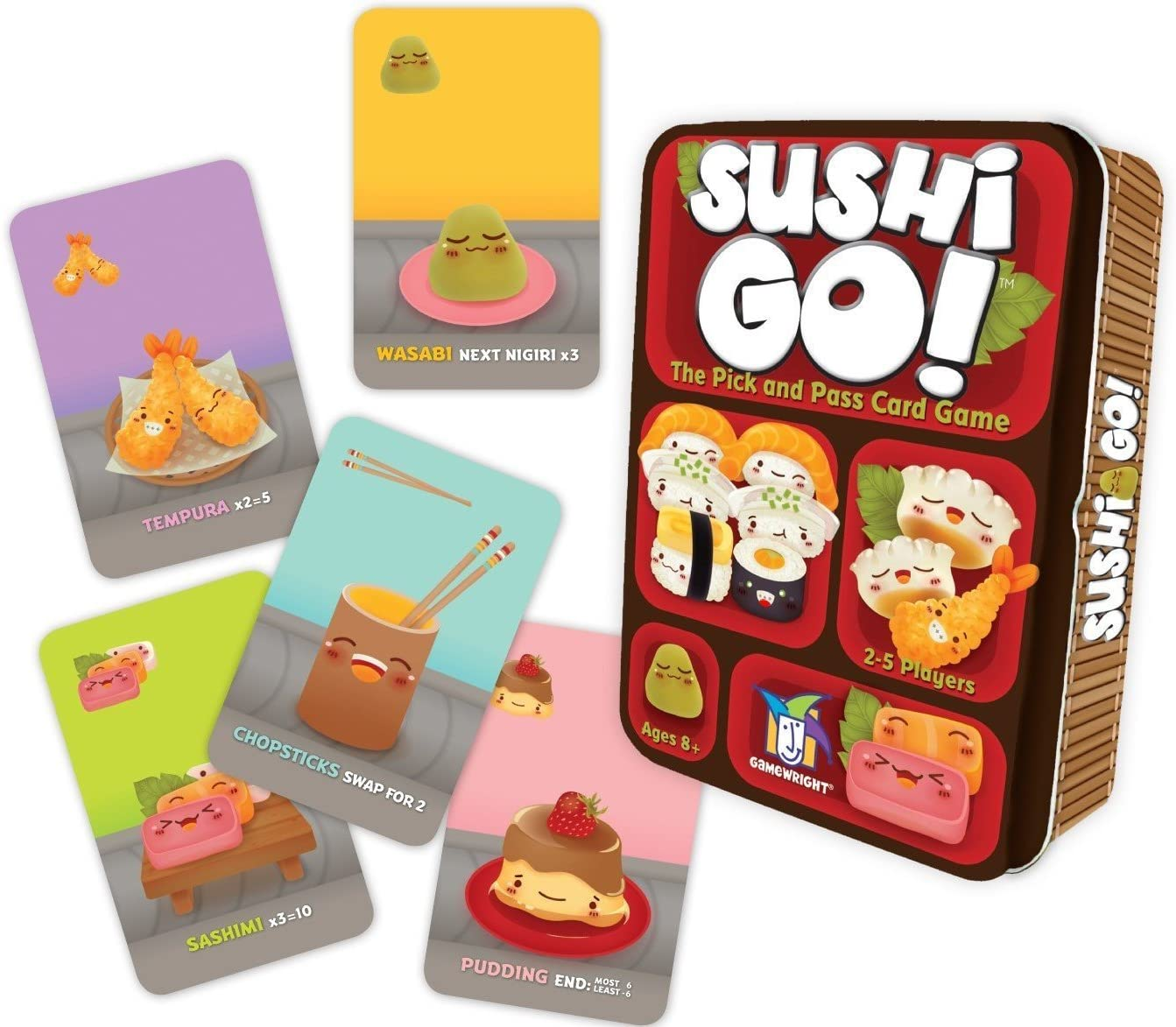 sushi cards and tin
